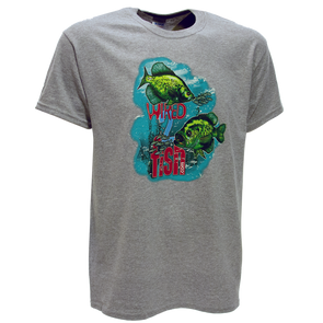 Wired2fish Crappie T-Shirt - Athletic Grey
