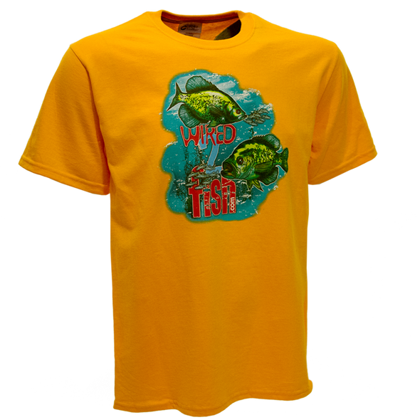 Wired2fish Crappie T-Shirt - Gold