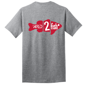 Wired2fish Fish Logo T-Shirt - Athletic Grey