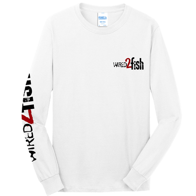 Wired2Fish Long Sleeve Logo T-Shirt - White