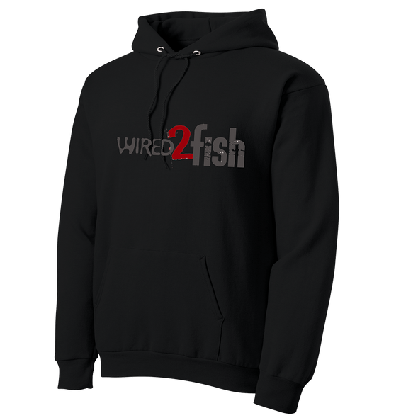 Wired2Fish Logo Hoodie - Black