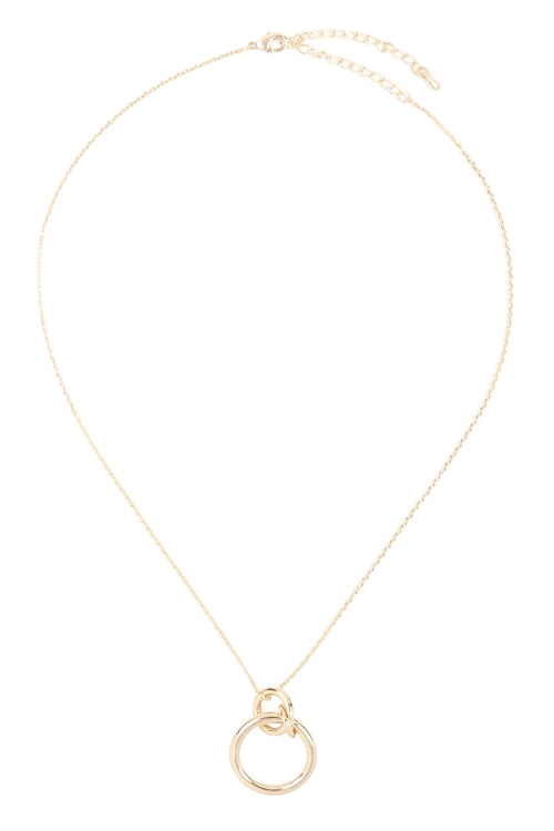 LINKED RING NECKLACE-GOLD