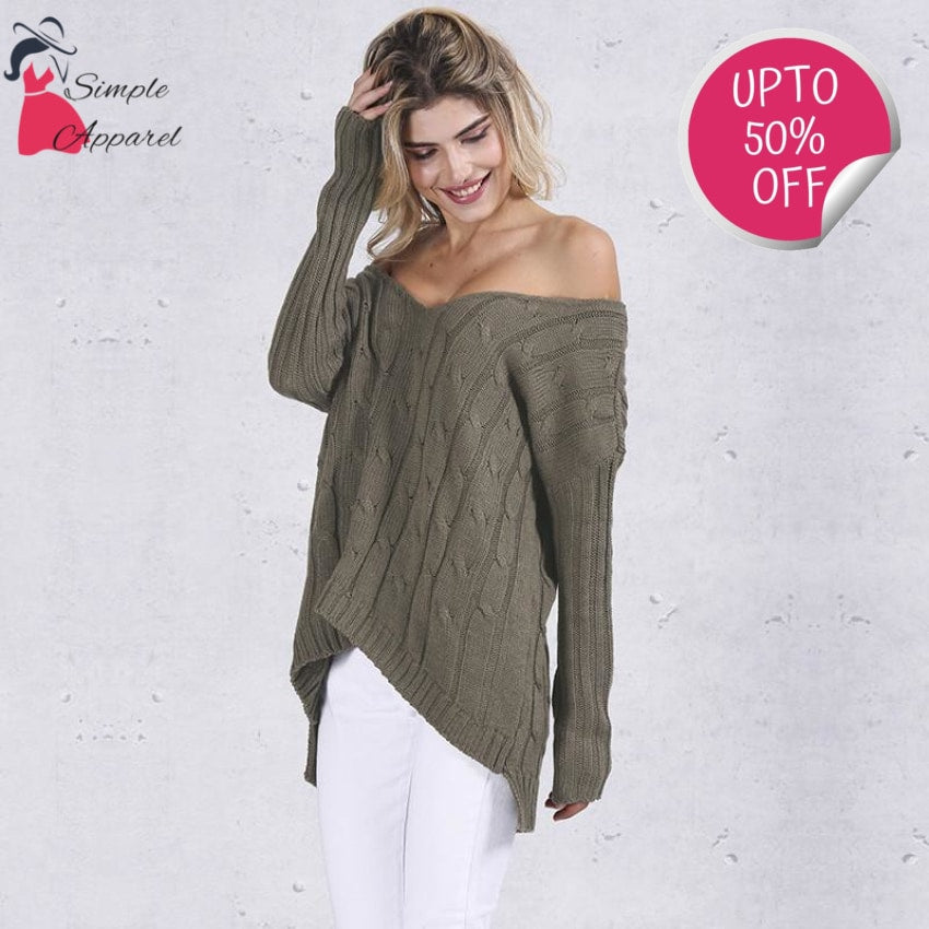 Autumn Backless Knitted Sweater