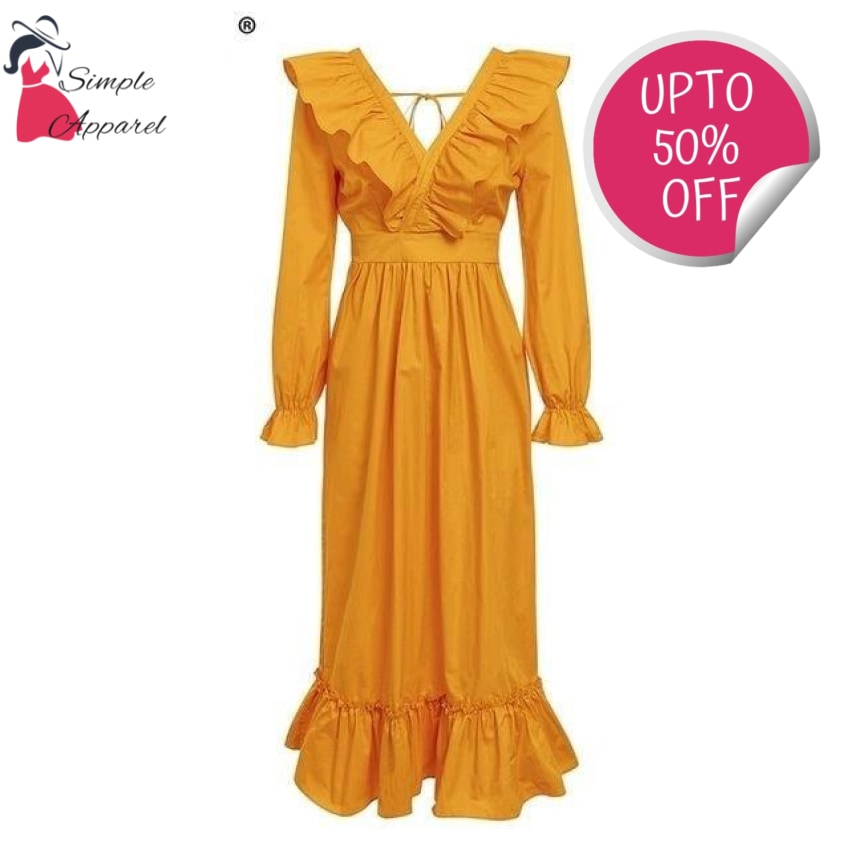 Cotton Lolita Robe Dress Yellow / S