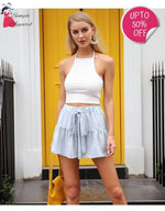 Drawstring Cotton Casual Shorts