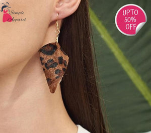 Elegant Leopard Statement Earrings
