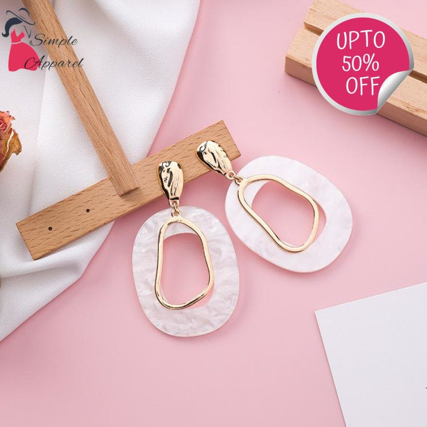 Hollow Out Acrylic Earrings
