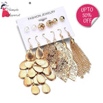 Korean Fashion Leaf Tassel Earring