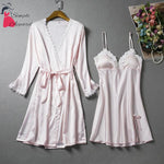 Loose Split Robe And Pyjama Set