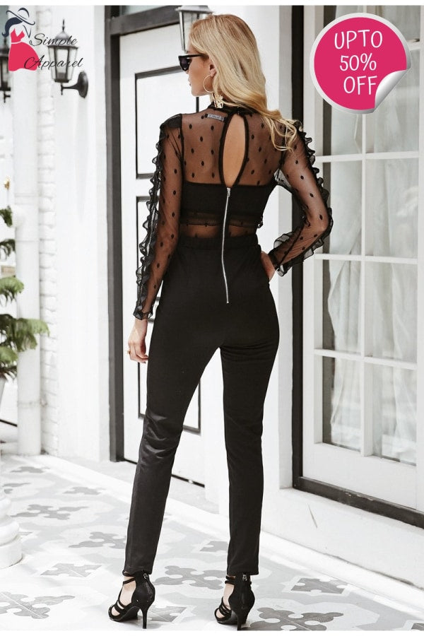 O Neck Hollow Out Jumpsuit