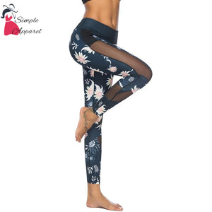 Printed Exercise Yoga Pants S