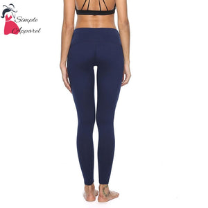 Quick-Drying Running Tight Compression Yoga Pants Blue / L