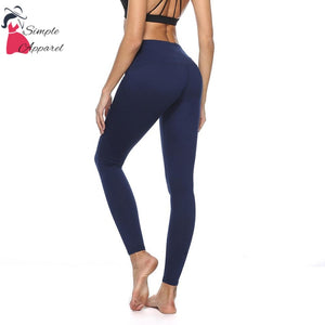 Quick-Drying Running Tight Compression Yoga Pants Blue / Xl