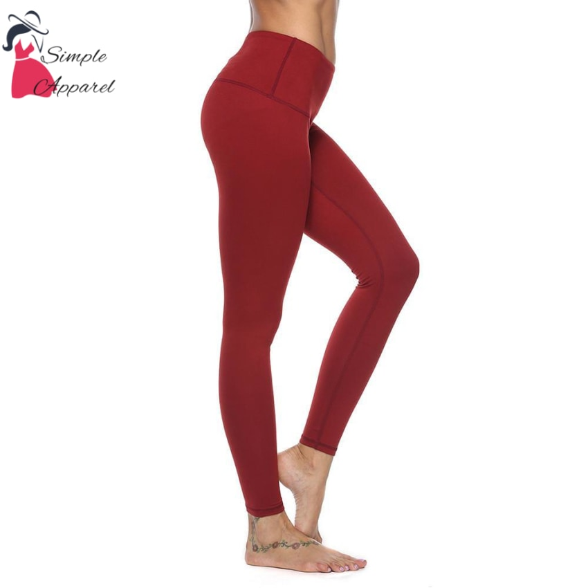 Quick-Drying Running Tight Compression Yoga Pants Red / L