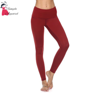 Quick-Drying Running Tight Compression Yoga Pants Red / S
