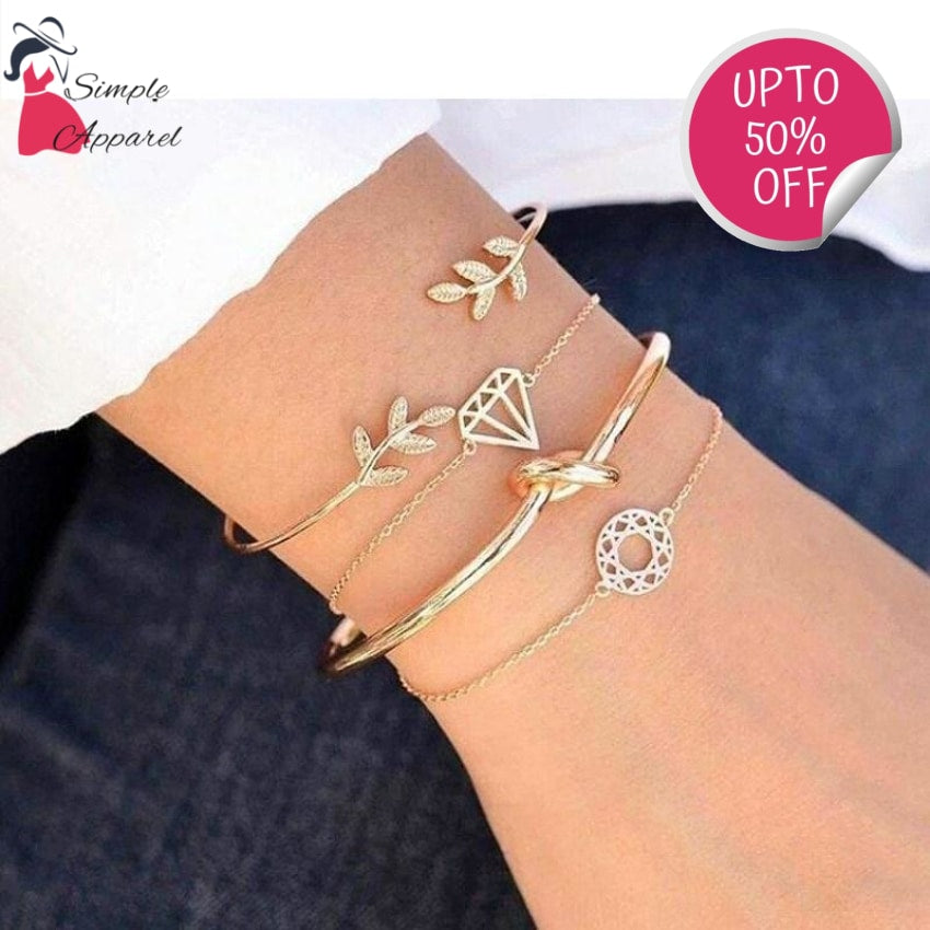 Rhinestone Jewelry Multilayer Bracelet