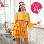 Ruffle Mesh Summer Dress