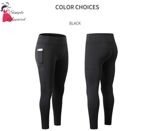 Super Stretchy Yoga Pants Leggings Black / S