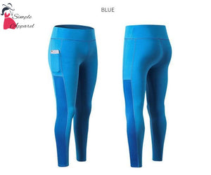 Super Stretchy Yoga Pants Leggings Blue / S