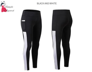 Super Stretchy Yoga Pants Leggings White / S