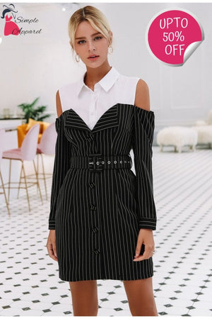 Two Piece Stripe Women Dress