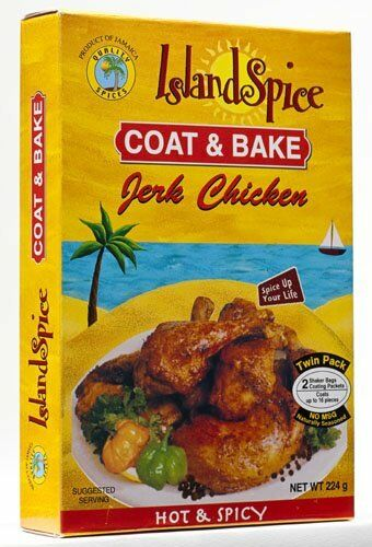 island spice jamaican coat & bake jerk chicken hot and spicy