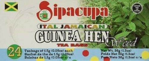 6 guinea hen weed sipacupa ital jamaican best tea bag aka anamu freshly packed