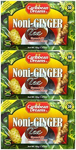 3 caribbean dreams noni ginger tea flavored with strawberry and cherry