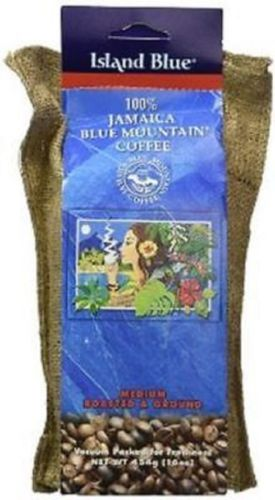 100% jamaica blue mountain coffee island blue roasted & ground 16 oz - JamaicanFavorite