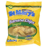 st. mary's original banana chips jamaican gluten free all natural snack 30g (Pack of 12) - JamaicanFavorite