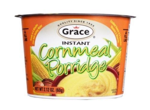 grace jamaican instant cornmeal porridge 60g (Pack of 6) - JamaicanFavorite