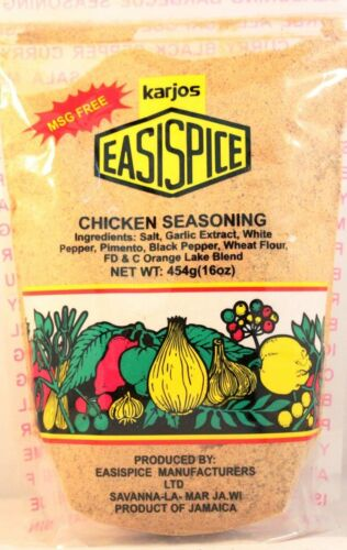 karjos easispice chicken seasoning jamaican jerk meat oxtail pork fish 16 oz