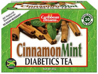 3 caribbean dreams cinnamon mint tea bags diabetics tea herbal tea