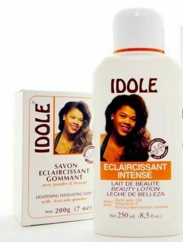 idole lotion & exfoliating soap w/ avocado deep cleanse skin lighten complexion