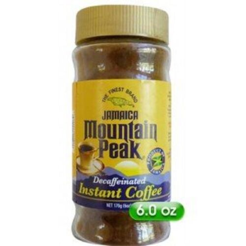 jamaican mountain peak decaffeinated instant coffee healthy for dieters 6 oz