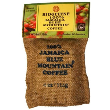 ridgelyne 100 percent jamaica blue mountain coffee roasted & ground 4 oz - JamaicanFavorite