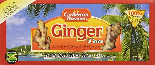 caribbean dreams ginger tea bags 1.34 oz - JamaicanFavorite
