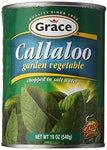 grace jamaican callaloo garden vegatable chopped in salt water 18 oz - JamaicanFavorite