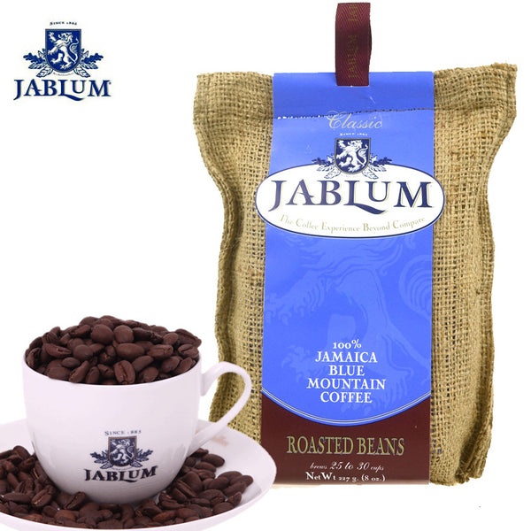 100% jamaica blue mountain coffee jablum roasted beans 8 oz - JamaicanFavorite