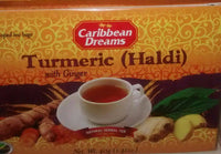 caribbean dreams herbal turmeric haldi tea with ginger 1.41 oz - JamaicanFavorite