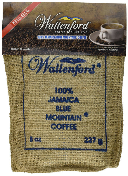 100% jamaica blue mountain coffee wallenford roasted & ground 8 oz - JamaicanFavorite