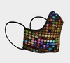 Colorful Pretty Lights Face Mask, with Filter Pocket and Metal Nose Piece