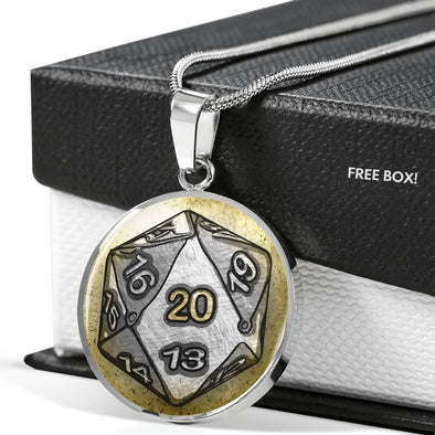 d20 Die Pendant with Custom Engraving Option