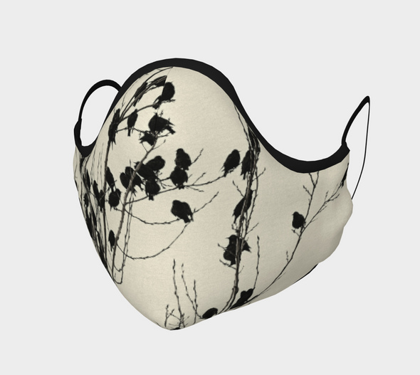 Birds Silhouettes Face Mask, with Filter Pocket and Metal Nose Piece