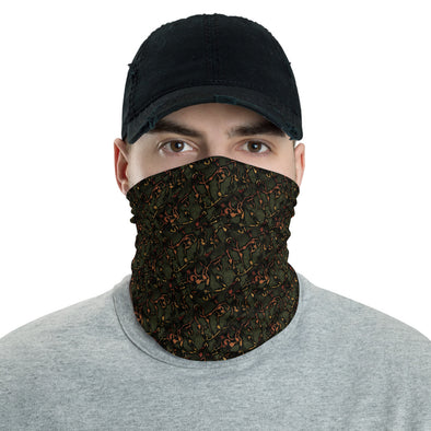 Digital Abstract Neck Gaiter for Men, Face Covering, Breathable Mask, Abstract face mask