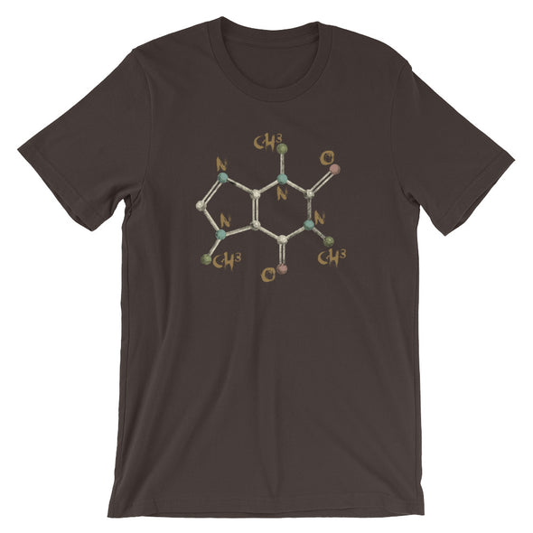Caffeine Molecule T-shirt (aka. Chemistry of Coffee)