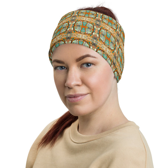 Sunrise Mosaic Headband, Neck Gaiter, Bandana, Wristband, Face Covering and Neck Warmer