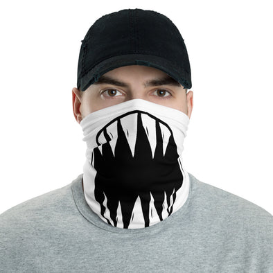 Monster Teeth Face Covering, Neck Gaiter, Breathable Mask, Funny Face Mask