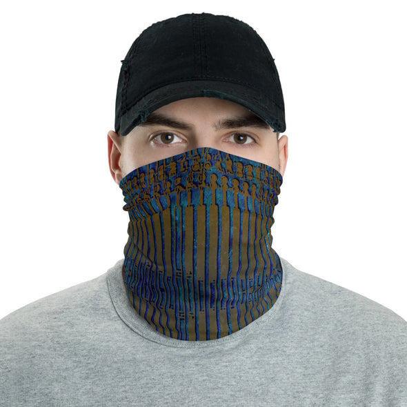 Creative Circuitry Neck Gaiter, Face Covering for Men, Breathable Fabric Neck Gaiter for Men, Bandana, Neck Warmer, Colorful Face Mask