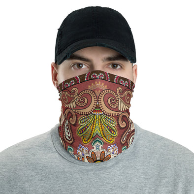 Boho Neck Gaiter, Bandana Face Mask, Hippie Neck Face Shield, Bohemian Cloth Face Covering, Face and Neck Mask
